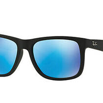 Ray Ban Blue Mirror Square Men's Sunglasses Rb4165f 622/55 55 Rb4165f 622/55 55 Photo