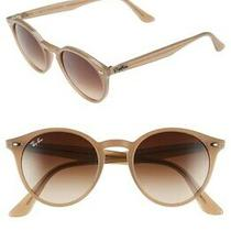 Ray Ban Brown Gradient Round Men's Sunglasses Rb2180 616613 51 Rb2180 616613 51 Photo