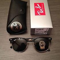 Ray Ban Clubmaster 3016 Sunglasses W0365 51mm G-15 Lens Gold Frame Black Photo