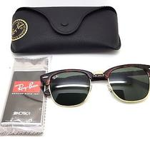 Ray Ban Clubmaster Classic Sunglasses Tortoise Gold With Original Black Case Photo