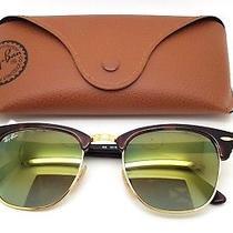 Ray Ban Clubmaster Green Flash Lens Gradient Sunglasses W Original Ray Ban Case  Photo