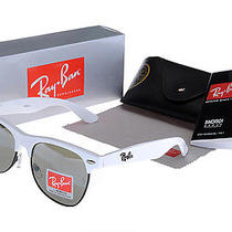 Ray Ban Clubmaster Pure White Frame Sunglasses Photo