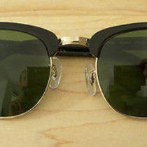 Ray-Ban Clubmaster Rb3016 Black Gold Sunglasses With Case Very Nice Condition Photo