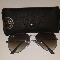 Ray Ban Half Dark Brown Half Clear Lens Black Frame Sunglasses 58 Rb3025 Photo