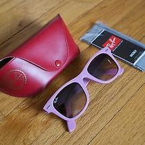 Ray Ban Matte Pink/lilac/purple Wayfarer Sunglasses Rayban Like New Photo