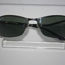Ray-Ban Polarized Rb 3183 Black Sunglasses 63mm - Broken Temple & Lens Photo