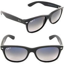 Ray-Ban Rb 2132 New Wayfarer Matte Black Polarized Sunglasses 55mm Photo