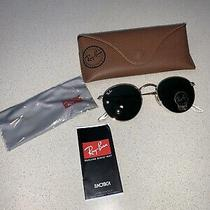 Ray Ban Rb 3447 Round Metal Sunglasses 50-21 Made in Italy New Photo