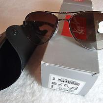 Ray Ban Rb 3509 004/13 Gunmetal Havana Unisex Aviator Sunglasses 63mm Photo
