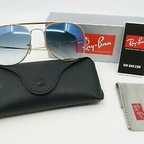 Ray-Ban Rb 3561 001/3f 57mm New Gold/ Blue Gradient the General Sunglasses W/box Photo