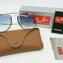 Ray-Ban Rb 3583n 001/x0 58mm New Gold/ Blue Gradient Mirror Sunglasses With Box Photo