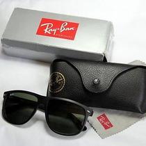 Ray Ban Rb 4147 601-S Wayfarer Matte Black Sunglasses  Photo
