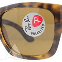 Ray Ban Rb 4194 710/83 3p Light Havana Rb4194 Polarized  Unisex Sunglasses Photo