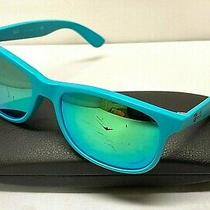 Ray-Ban Rb 4202 Andy 6072/3r Blue Plastic Square Sunglasses Made in Italy Photo