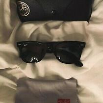 Ray-Ban Rb2140 901 50-22 Wayfarer Green Lenses Unisex Classic Sunglasses - Black Photo