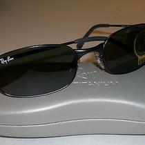 Ray Ban Rb3162 Sleek 006 G15 5219 Blk Rectangular Flex Hinges Sunglasses New  Photo