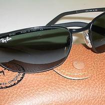 Ray Ban Rb3175 Flight 6018 Black G15 Uv Flex Hinges Predators Wrap Sunglasses Photo