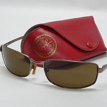 Ray Ban Rb3194 Polarized Sunglasses With Amber/brown Lenses and Case.  Photo