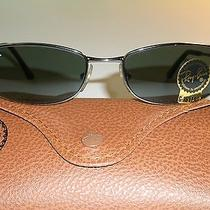 Ray Ban Rb3198 Slim Line G15 Uv Chrome Rectangular Flex Hinges Sunglasses  Photo