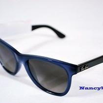 Ray Ban Rb4184 6042/71 Blue/grey Opal & Grey Gradient Azure Sunglasses Photo