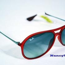 Ray Ban Rb4201 898/11 Alex Rubber Transparent Red/poly Grey Gradient Sunglasses Photo