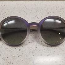 Ray Ban Rb4222 Rb/4222 Rayban 6223/11 Violet Shot/black Round Sunglasses 50mm Photo
