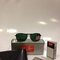 Ray Ban's 8013 With Black Frame and Green Lenses Photo