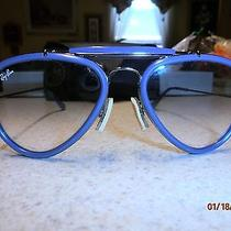 Ray Ban Sun Glasses Aviator Blue Unisex100% Uv With Case. New Without Tags Photo