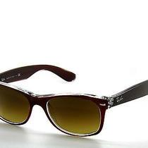 Ray Ban Sunglasses 2132 Top Brushed Brown on trans.grad.6145/85 New  Wayfarer 52 Photo