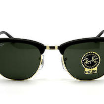 Ray Ban Sunglasses 3016 W0365 Clubmaster Black Rb3016 W0365 51mm Photo