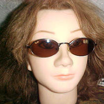 Ray Ban  Sunglasses Bronze Frame W3096   Italy Flex Hinges Oval Lens Preowned Photo