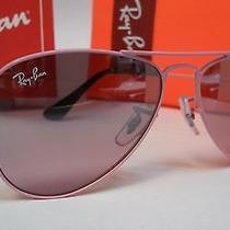 Ray Ban Sunglasses Kids Rj9506s 211/7e Junior Aviator Pink Frame Pink Mirror 50 Photo
