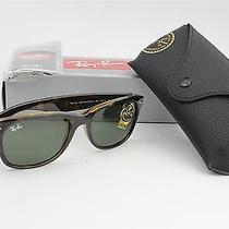Ray Ban Sunglasses New Wayfarer Havana Tortoise/crystal Green Rb2132 902l 55mm Photo