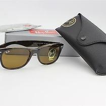 Ray Ban Sunglasses New Wayfarer Light Havana Tortoise/brown Lens Rb2132 710 55mm Photo