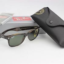 Ray Ban Sunglasses New Wayfarer Tortoise/crystal Green Rb2132 902 52mm Photo