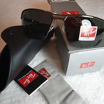 Ray Ban Sunglasses Rb 3510 004/71 Gunmetal / Green Lens New Photo