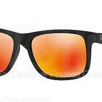 Ray Ban Sunglasses Rb 4165 622/6q Rubber Black 51mm Photo