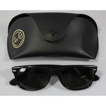 Ray-Ban Unisex Black Plastic Frame New Wayfarer Rb2132 Sunglasses in Case Photo