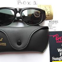 Ray-Ban Vintage b&l Sunglasswayfarerw0585g-1554mmpaddleebonynew B2 Photo