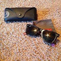 Ray Ban Wayfarer Plaid on the Inside Complete With Case and Cleaning Cloth Photo