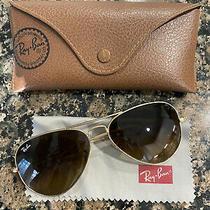 Ray-Ban Womens 58mm Standard Gold Framed Aviators Ray Bans Sunglasses Name Brand Photo