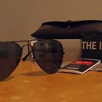 Rayban Aviator Sunglasses in Black Brand New in Box  Photo