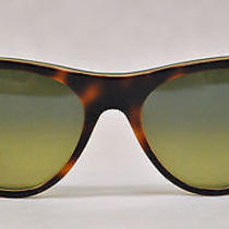 Rayban Rb4152 Vagabond 1073/73 3n Tortoise Shell Blue/green Cat Eye Sunglasses Photo