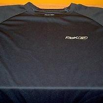 Rbk Blue Athletic Wear Shirt Size L 100% Polyester Free Shipping Photo