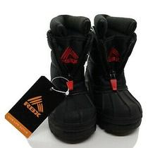 Rbx Parker T Kids Winter Snow Boots Black Red Toddler Sz 5 New Without Box Photo