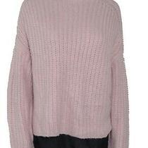 Rd Style Women's Sweater Blush Pink Size Medium M Crochet Knit Mock 78 250 Photo