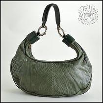 Rdc6670 Authentic Chloe Green Snakeskin Large Bracelet Hobo Bag Photo