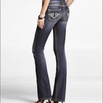 Re Rock for Express Barely Boot Denim Jeans Size 2 Hot Seller Photo
