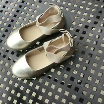 Reaction Kenneth Cole Brand Infants Girls Size 11 Gold Flats Photo