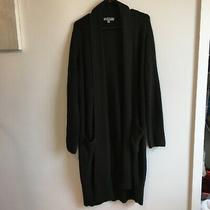 Reaction Kenneth Cole Long Cardigan Sweater Deep Forest Size Xxl Photo